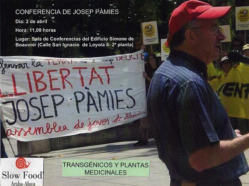 foto Josep Manifestacio transgénics Lleida